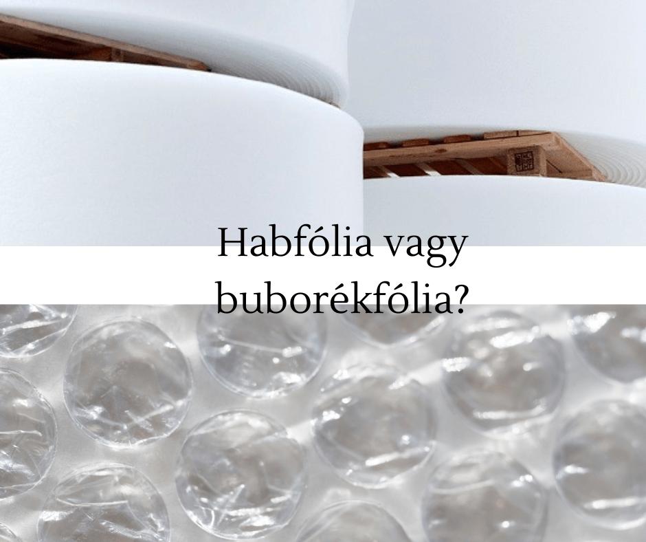 habfólia buborékfólia